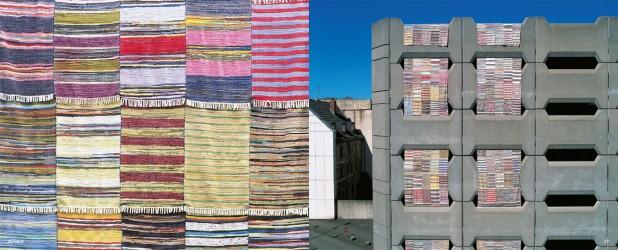 Jekson, 2000, Installation von 215 Flickenteppiche