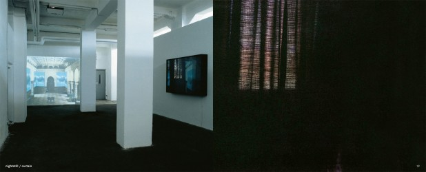 nightstill / curtain, 2001 Leuchtkasten