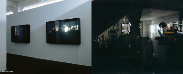 nightstill / home, 2001, Duratrans in Leuchtkasten, Holz lackiert, 110x165x20cm